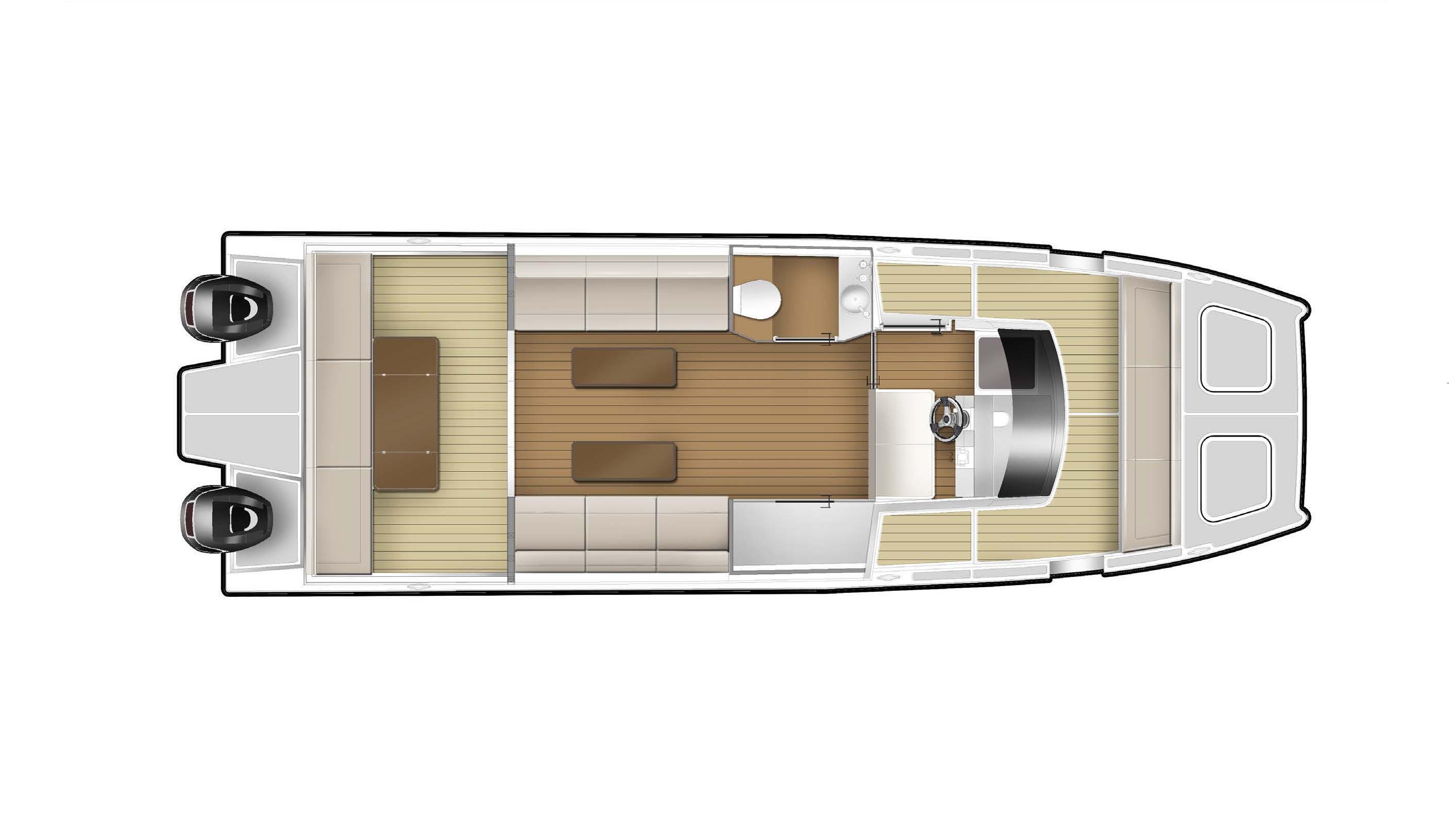 SilverCat 34 Luxury Layout