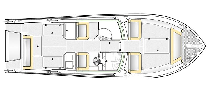 Silvercraft 33 Lower Deck